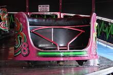 A Spinning Car On A Waltzer Fun Fair Ride.