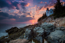 Bass Harbor Lighthouse An Suns...