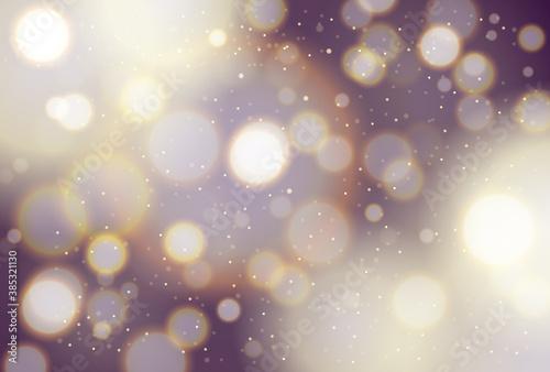 暗闇でキラキラと黄金に輝く背景素材 Fotobehang