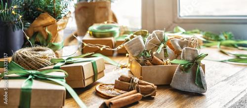 Christmas advent calendar gift zero waste eco Care package,furoshiki gifts envir Canvas Print