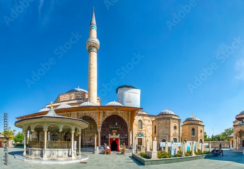 Obraz na plátně Mevlana Tomb and Mosque in Konya City