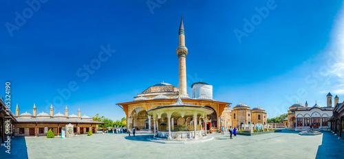 Fotografie, Obraz Mevlana Tomb and Mosque in Konya City
