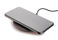 Smartphone On Wireless Charger...