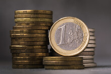 One Euro On The Background Of ...