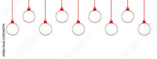 Fotografie, Obraz boules de noël rouges