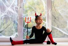 Little Girl Gymnast In Costume...
