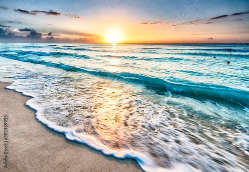 Fototapety, obrazy: sunset over the sea