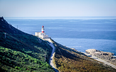 Cabo Silleiro lighthouse in the low rias of Galicia