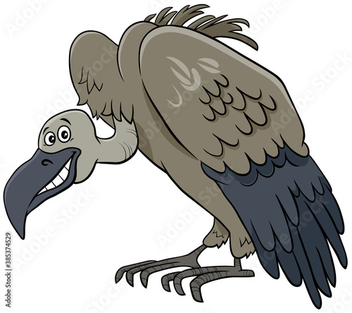 vulture bird animal cartoon character Fototapeta