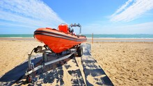 Red Patrol Lifeguard Boat Load...