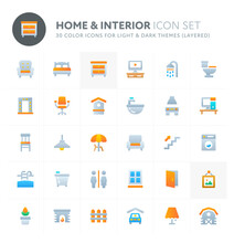 Home & Interior Vector Icon Se...