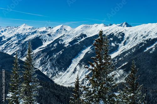 Photo View from the top of Aspen Mountain. Aspen, Colorado
