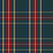 Classic Scottish Tartan Design. Red, Green, Yellow And Blue Traditional Tartan Plaid Seamless Pattern. Flannel Shirt Tartan Print.