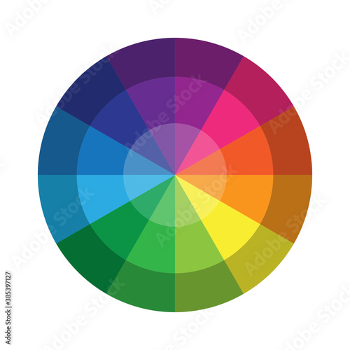 Plakaty kolorowe  circle-palette-of-colors-multicolored-wheel-with-a-gradient-rainbow-mix-vector-illustration