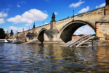 Charles Bridge From The Vltava...
