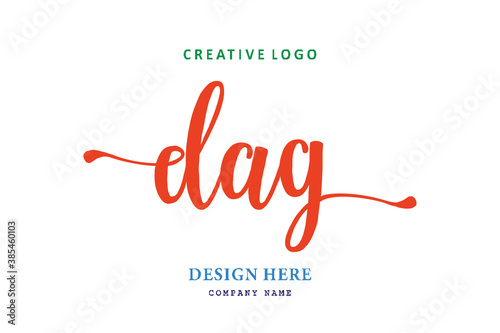 Fotografía simple DAG lettering logo is easy to understand, simple and authoritative