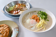 Breakfast With Congee, Egg And...