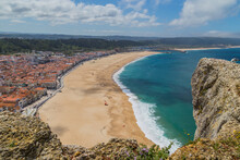 Nazare Town And Beach