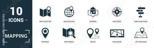 Fotografia Mapping icon set