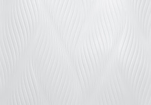 White Cement Wall With Wave Pattern. White Wall Texture Abstract Background. Modern Design Of White Wavy Background. Simple Abstract Wallpaper. White Seamless Texture. Concrete Surface. Interior Wall.