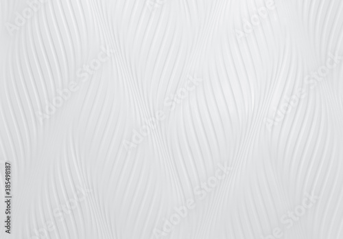 Fototapeta White cement wall with wave pattern. White wall texture abstract background. Modern design of white wavy background. Simple abstract wallpaper. White seamless texture. Concrete surface. Interior wall. obraz