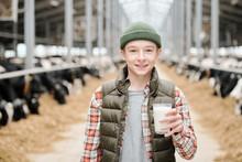 Portrait Of Cheerful Farm Boy ...