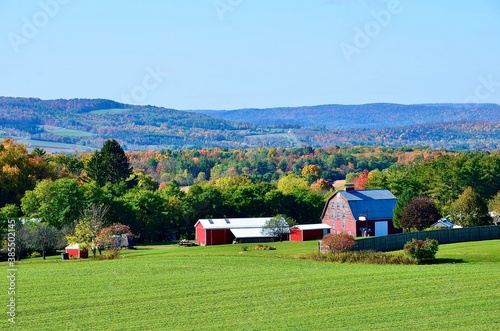 Fototapeta Landscape in the mountains, upstate New York
