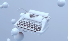 Typewriter Flying In The Air O...