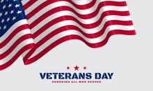 Vector Illustration Of Veterans Day.