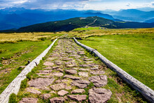 Old Footpath At The European A...