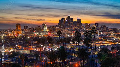 View of evening Los Angeles Fototapet