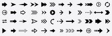 Arrows Set Black Icons.Arrows Collection. Big Set Of Arrows Design. Arrow Icon.Modern Simple Arrows Flat Style For Web Design..Vector Illustration