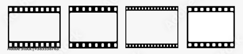 Film strip.Filmstreifen.Film strip icon.Video tape photo film strip frame vector.Vector illustration