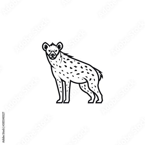 Fotografia hyena logo vector icon illustration