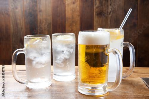 生ビールとレモンサワー