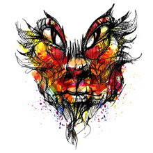 Demon Mask. Avatar. The Face Of A Monster