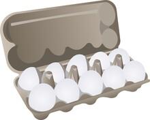 A Dozen White Eggs Per Pack.