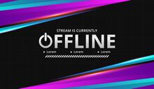 Modern Digital Theme Twitch Offline Background