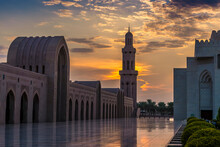 The Sun Sets Over A Mosque At ...