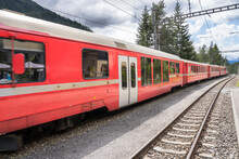 Regional Train Comes To The Station, Switzerland