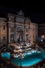 Baroque Roman Fountain With Sc...