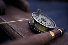 Fly Fishing Reel Rod, Flies And Tackle