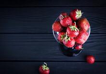 Fresh Red Strawberries On A Da...