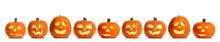 Set Of Carved Halloween Pumpki...