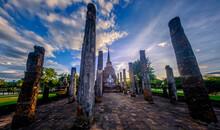 Temple Wat Sa Sri At Sunrise