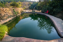 "A Spring Called ""ein Lavan"" Is Empty Of People In The Early Morning, The Mountains Of Jerusalem, Israel"
