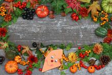 Herbstlicher Rahmen