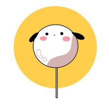 Happy Smiley Puppy Lollipop