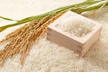White Rice And Japanese Masu A...