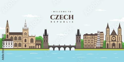Tablou Canvas A view of the absolutely gorgeous Prague, Czech Republic